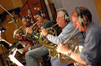 Mark Adams, Steve Becknell, Dave Duke and Jim Thatcher on French horns