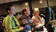 Assistant Doug Clow, ProTools recordist Kevin Globerman and music editor Alex Gibson