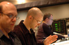 Orchestrator Randy Kerber, composer Theodore Shapiro and ProTools recordist Bryan Carrigan