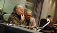 Orchestrator Edgardo Simone and copyist Ron Vermillion