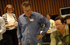 Concertmaster Belinda Broughton, composer Garry Schyman and scoring mixer Dan Blessinger
