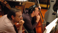 The cellos examine a cue