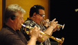 David Washburn and Rick Baptist on trumpet