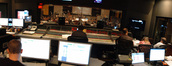 View from the control room at Warner Brothers