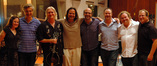 Composer Deborah Lurie, director Lasse Hallstrom, guitarist George Doering, violinist Charlie Bisharat, pianist Randy Kerber, scoring mixer Casey Stone, bassist Mike Valerio and orchestra contractor Peter Rotter