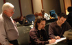 James Hopkins, Bear McCreary and orchestrator Brandon Roberts