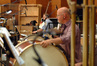 Alan Estes (rear) and MB Gordy play percussion