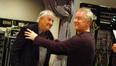 Director Garry Marshall jokes with composer John Debney