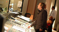 Scoring mixer Greg Townley and guitarist George Doering in the iso booth)