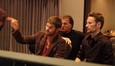 Director Jonathan Liebesman, his father, and composer Brian Tyler