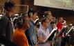 The choir sings on <i>Battle: Los Angeles</i>