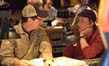 Composer Michael Giacchino talks with director Brad Bird