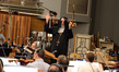 Tim Mother Superior Simonec blesses the orchestra on Halloween