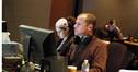 Music editor Katia Lewin Palomo and ProTools recordist Kevin Globerman
