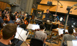 Composer Fil Eisler and the orchestra record a cue from ABC's <i>Revenge</i>