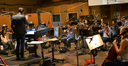 Composer and conductor Fil Eisler and the orchestra record a cue from ABC's <i>Revenge</i>