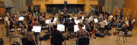 The orchestra records a cue for <i>Revenge</i>