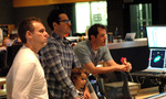 Producer Bryan Burk, director J.J. Abrams and composer Michael Giacchino
