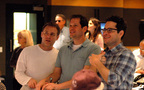 Producer Bryan Burk, director J.J. Abrams and composer Michael Giacchino listen - and react - to the finale cue for the first time (3 of 4)