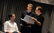 Orchestrator Zack Ryan, director Christopher McQuarrie and composer Joe Kraemer