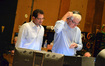 Composer Michael Giacchino and conductor/orchestrator Tim Simonec