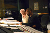 Orchestrator Brad Dechter and composer Mervyn Warren listen to a cue on <i>Joyful Noise</i>