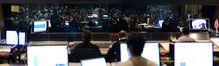 View from the recording booth at the Newman Scoring Stage