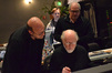 Arranger Randy Kerber with conductor John Williams and scoring mixer Dennis Sands