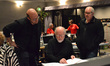 Arranger Randy Kerber, conductor John Williams, and scoring mixer Dennis Sands