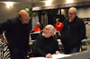 Arrnager Randy Kerber, conductor John Williams and scoring mixer Dennis Sands