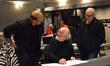 Arranger Randy Kerber with conductor John Williams and scoring mixer Dennis Sands