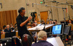 John Elg talks with the orchestra