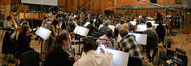 John Elg conducts the orchestra on <i>Ted</i>