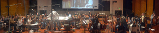 Composer Laurent Eyquem and the Hollywood Studio Symphony prepare to record on <i>Copperhead</i>