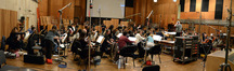 Conductor Nick Glennie-Smith and the strings record