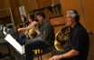 The French horns: Allen Fogle, Laura Brenes, Ben Jaber, and Dave Everson