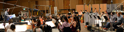 Gordon Goodwin gives notes to the Hollywood Studio Symphony on <i>Grudge Match</i>
