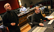 Contractor David Low, score coordinator Drew Silverstein (rear) and digital score recordist Kevin Globerman