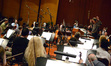Conductor Nick Glennie-Smith and the Hollywood Studio Symphony record on <i>Kick-Ass 2</i>
