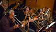 The low brass: Bill Booth, Alex Iles, Steve Holtman, Bill Reichenbach, and Doug Tornquist