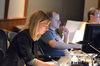 Music editor Catherine Wilson and digital score recordist Kevin Globerman