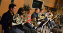 The French horns section