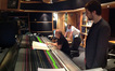 Composer Olivier Deriviere with recording and mixing engineer John Kurlander at the Air Studios desk