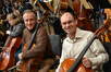 Cellists David Low and Victor Lawrence