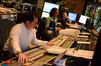 Composer Michael Giacchino, scoring mixer Joel Iwataki, and stage recordist Tim Lauber