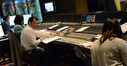 Stage recordist Tim Lauber, scoring mixer Joel Iwataki, composer Michael Giacchino, and score coordinator Andrea Datzman