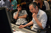 Composer Michael Giacchino and scoring mixer Joel Iwataki