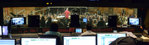The view from the booth at Fox