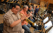 The brass section - trumpets: Rick Baptist, Jon Lewis, and David Washburn; trombones: Bill Booth, Alan Kaplan, Steve Holtman, Craig Gosnell; Tuba: Doug Tornquist