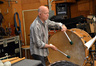 Percussionist MB Gordy plays bass drum